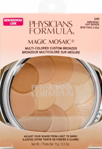 Physicians Formula Magic Mosaic Pressed 2459 Warm Beige/Light Bronzer Powder Perspective: front