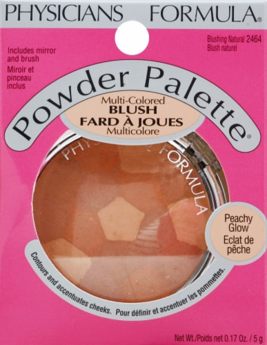 Physicians Formula Multi-Colored 2464 Blushing Natural Blush Powder Palette Perspective: front