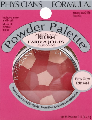 Physicians Formula Blushing 2466 Rose Powder Palette Perspective: front