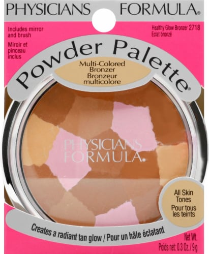 Physicians Formula 2718 Healthy Glow Multi-Colored Bronzer Powder Palette Perspective: front
