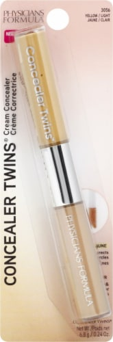 Physicians Formula Concealer Twins Yellow/Light 2-in-1 Correct & Cover Cream Concealer Perspective: front