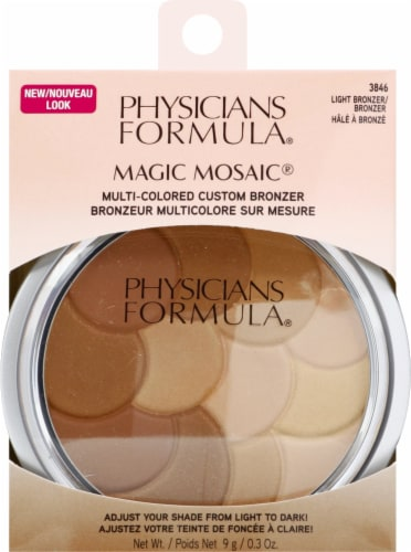 Physicians Formula Magic Mosaic 3846 Light Multi-Colored Bronzer Pressed Powder Perspective: front