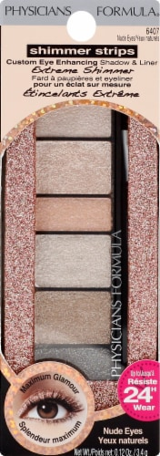 Physicians Formula Shimmer Strip Shadow and Liner Nude Eye Shadow Perspective: front