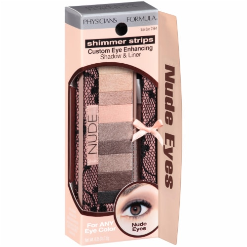 Physicians Formula Shimmer Strips Nude Eyeshadow & Liner Perspective: front