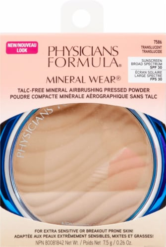 Physicians Formula Mineral Wear Airbrushing 7586 Translucent Pressed Powder Perspective: front