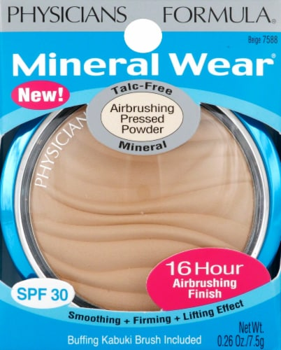 Physicians Formula Mineral Wear Airbrushing 7588 Beige Pressed Powder Perspective: front