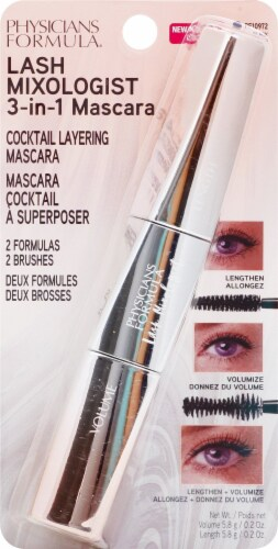 Physicians Formula Lash Mixologist Black Cocktail Layering Mascara Perspective: front
