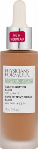 Physicians Formula Organic Wear 07 Tan Silk Foundation Elixir Perspective: front