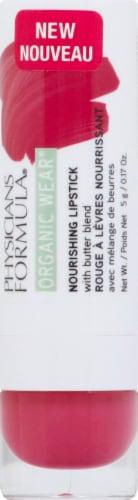 Physicians Formula Organic Wear Rasberry Crush Nourishing Lipstick Perspective: front