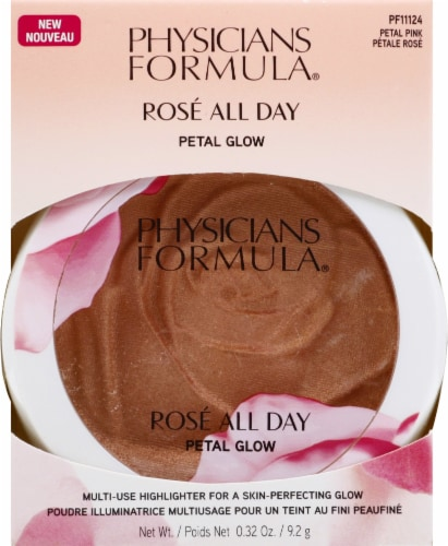 Physicians Formula Rose All Day Petal Pink Petal Glow Highlighter Perspective: front