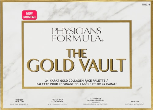 Physicians Formula The Gold Vault 24-Karat Gold Collagen Face Palette Perspective: front