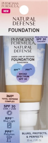 Physicians Formula Natural Defense Medium Foundation SPF 30 Perspective: front