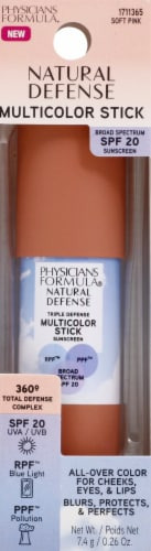 Physicians Formula Shields Up! Soft Pink Multicolor Stick Perspective: front