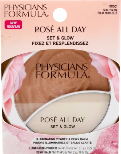 Physicians Formula Rose All Day Sunlit Glow Set & Glow Illuminating Powder & Balm Perspective: front