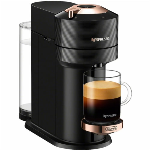 Nespresso by De'Longhi Vertuo Next Premium Coffee and Espresso Maker - Black/Rose Gold Perspective: front