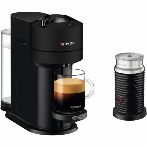 De'Longhi Nespresso Vertuo Next Premium Coffee & Espresso Maker with Milk Frother - Black Perspective: front