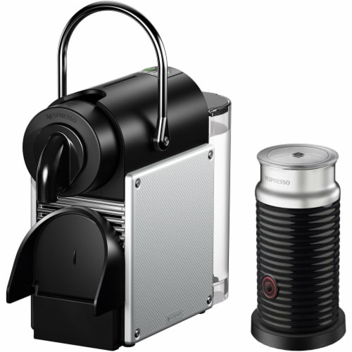 Nespresso Pixie Single-Serve Espresso Machine with Simplified Water Tank and Aeroccino Milk Frother Perspective: front