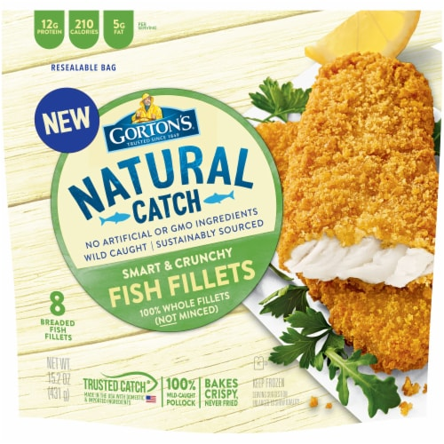 Gorton's Natural Catch Smart & Crunchy Breaded Fish Fillets Perspective: front