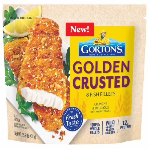Gorton's® Ancient Grains Crusted Fish Fillets Perspective: front