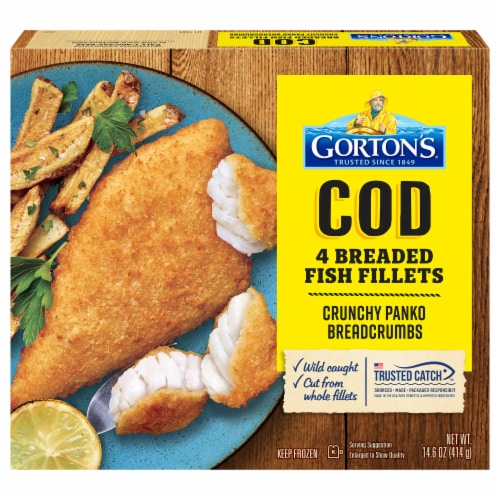 Gorton's Cod Fillets 4 Count Perspective: front