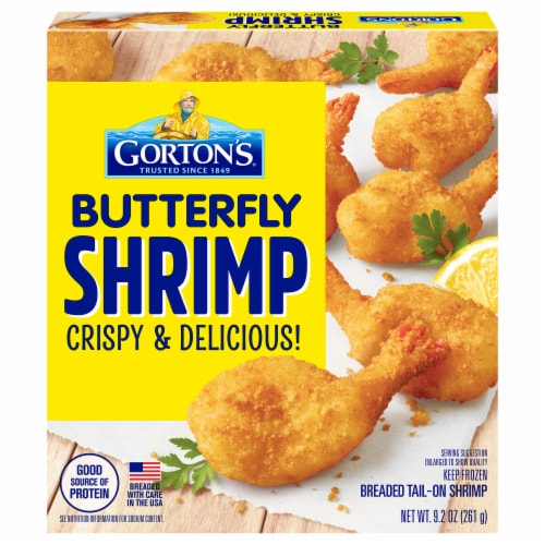 Gorton's® Butterfly Breaded Tail-On Shrimp Perspective: front