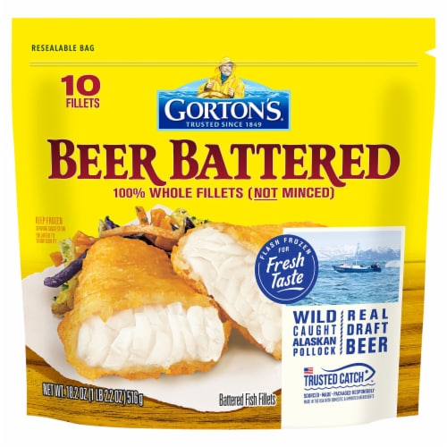 Gorton's Beer Battered Fish Fillets 10 Count Perspective: front