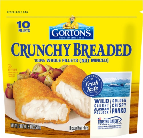 Gorton's Crunchy Breaded Fish Fillets 10 Count Perspective: front