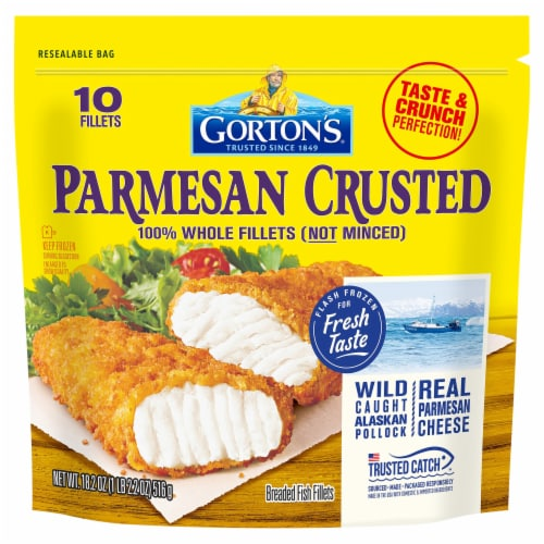 Gorton's Parmesan Crusted Breaded Fish Fillets Perspective: front