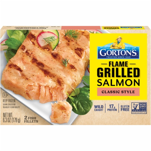 Gorton's Natural Catch Classic Style Grilled Salmon Fillets Perspective: front