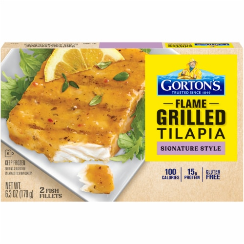 Gorton's Signature Grilled Roasted Garlic & Butter Tilapia Fillets Perspective: front