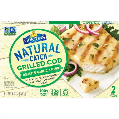 Gorton's Natural Catch Roasted Garlic & Herb Grilled Cod Fillets Perspective: front