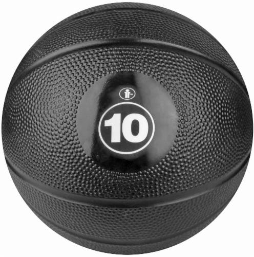 Bollinger® Core 10-Pound Medicine Ball - Black Perspective: front