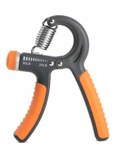 Bollinger® Adjustable Tension Hand Grip - Orange/Gray Perspective: front