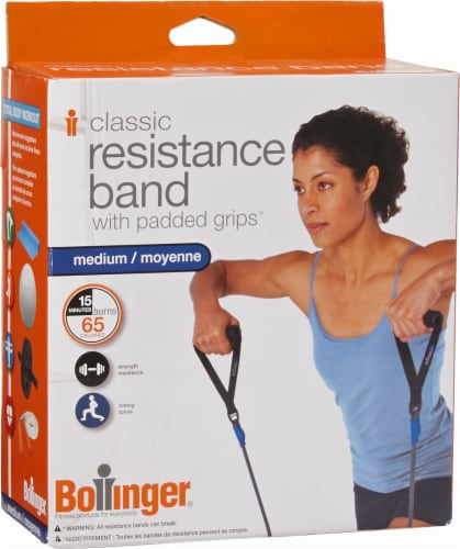 Bollinger® Classic Resistance Band with Padded Grips Perspective: front