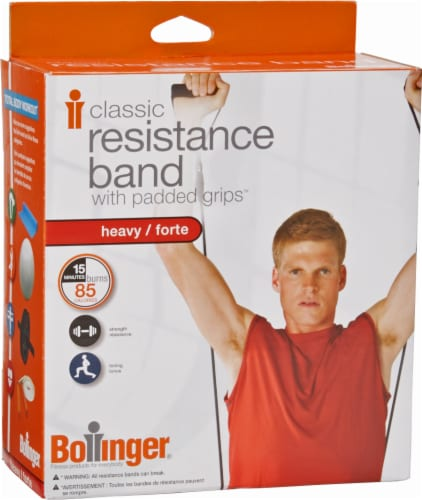 Bollinger® Classic Heavy Resistance Band with Padded Grips Perspective: front