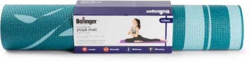 Bollinger® Reversible Yoga Mat - Teal Perspective: front