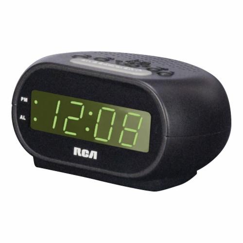 RCA Alarm Clock Radio - Black Perspective: front