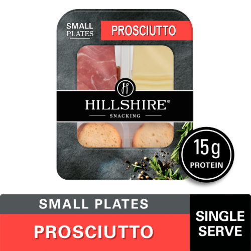 Hillshire Snacking Small Plates Prosciutto with White Cheddar Cheese Perspective: front