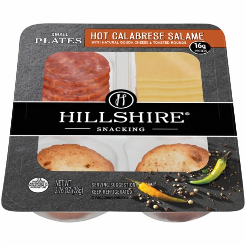 Hillshire Snacking Small Plates Hot Calabrese Salame with Gouda Cheese Perspective: front