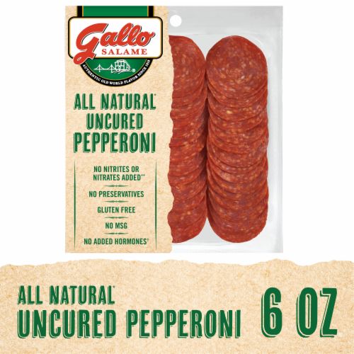 Gallo Salame All Natural Uncured Pepperoni Perspective: front