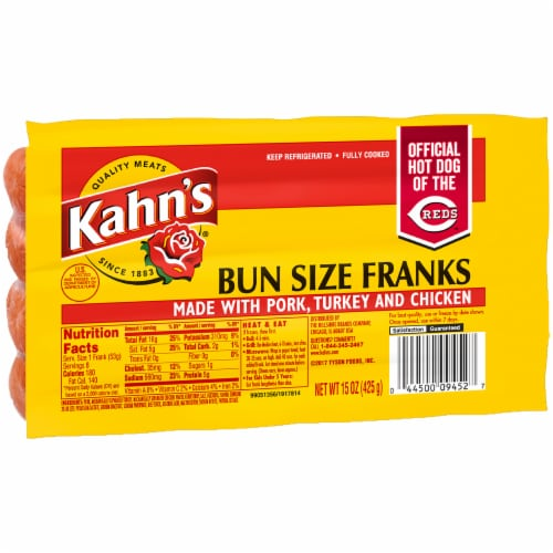 Kahn's Bun Size Franks Perspective: front