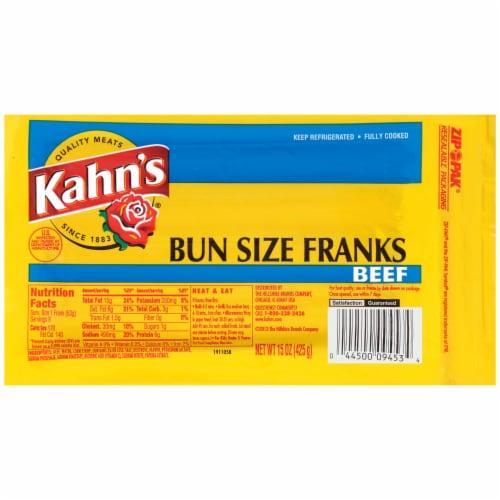 Kahn's Beef Bun Size Franks Perspective: front
