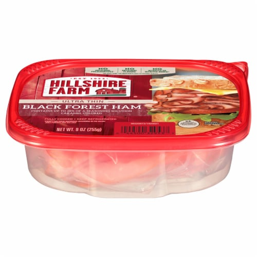Hillshire Farm Ultra Thin Sliced Black Forest Ham Lunchmeat Perspective: front