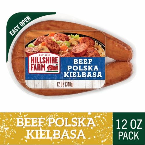 Hillshire Farm Beef Polska Kielbasa Smoked Sausage Perspective: front