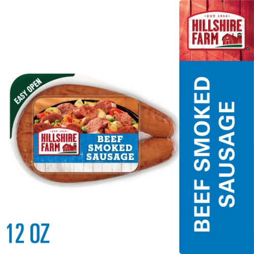 Hillshire Farm Beef Smoked Sausage Perspective: front