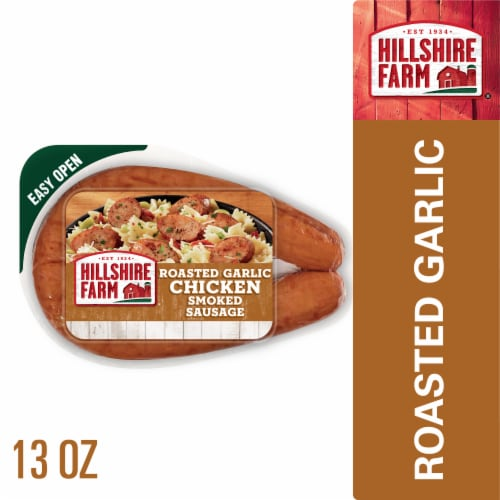 Hillshire Farm Roasted Garlic Chicken Smoked Sausage Rope Perspective: front