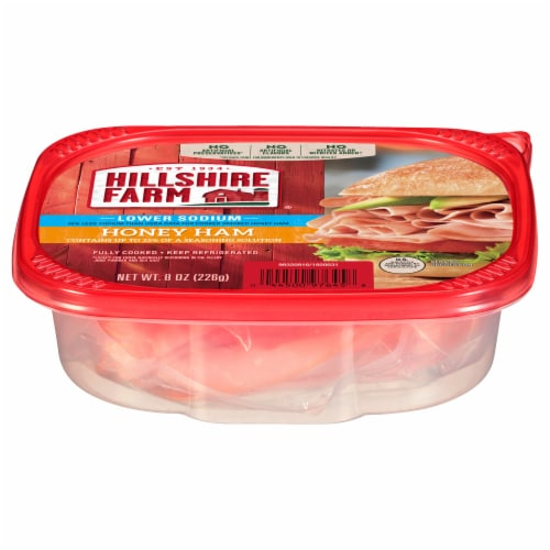 Hillshire Farm Ultra Thin Sliced Lower Sodium Honey Ham Lunch Meat Perspective: front