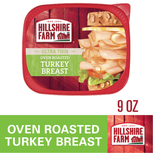 Hillshire Farm Ultra Thin Sliced Oven Roasted Turkey Breast Lunch Meat Perspective: front