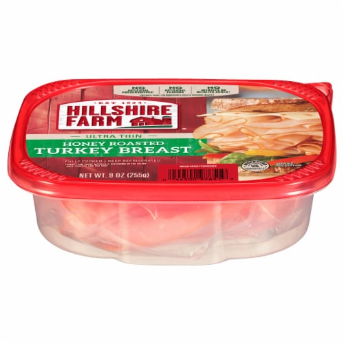 Hillshire Farm Ultra Thin Sliced Honey Roasted Turkey Breast Lunch Meat Perspective: front