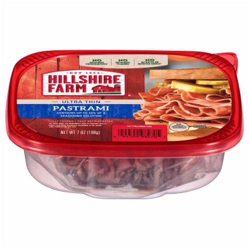Hillshire Farm Ultra Thin Sliced Pastrami Lunch Meat Perspective: front